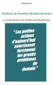 Citations monthomiennes - Bookiner.com